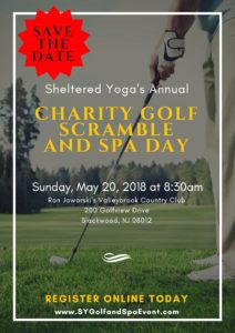 Sheltered Yoga's 2nd Annual Charity Golf & Spa Event! @ Ron Jaworski's Valleybrook Country Club